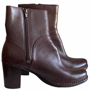 Women's Mid-Calf Indigo Brown Leather Boots 8M